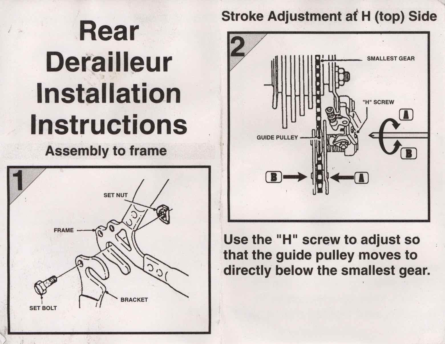 Rear Derailleur Diagram Great Installation Of Wiring Diagram