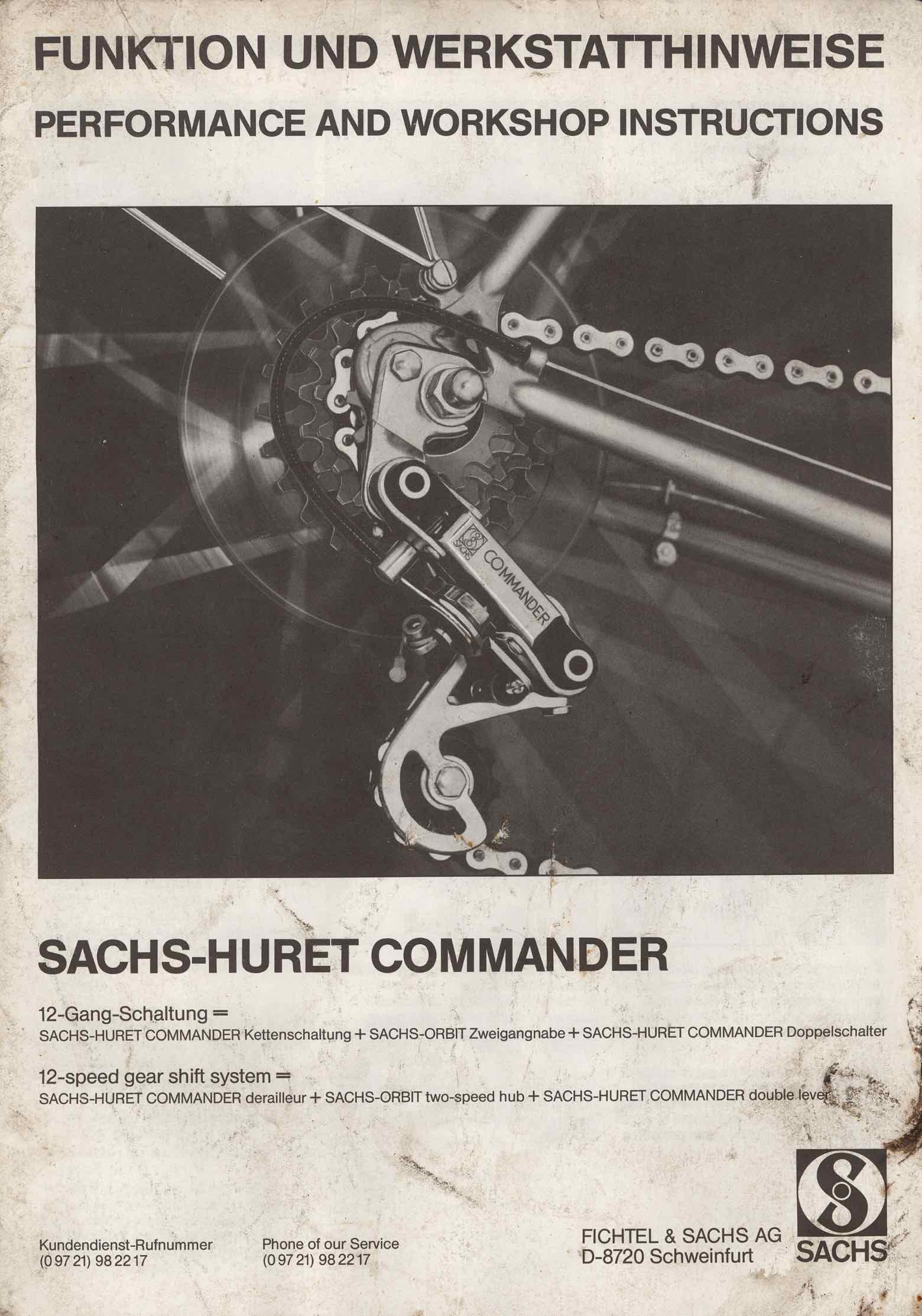 Sachs-Huret Commander derailleur - instructions