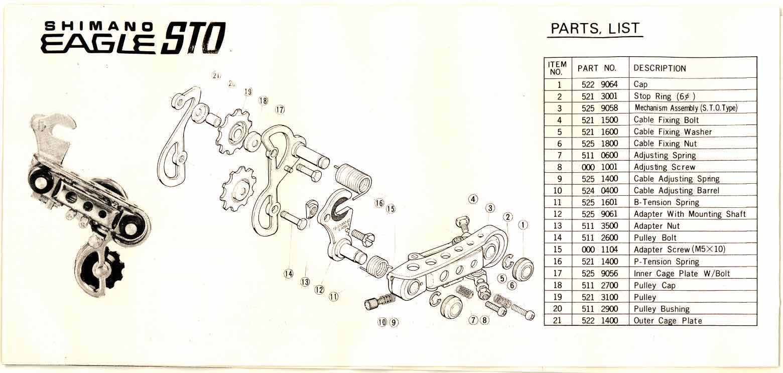 Shimano Eagle GS derailleur - instructions scan 6