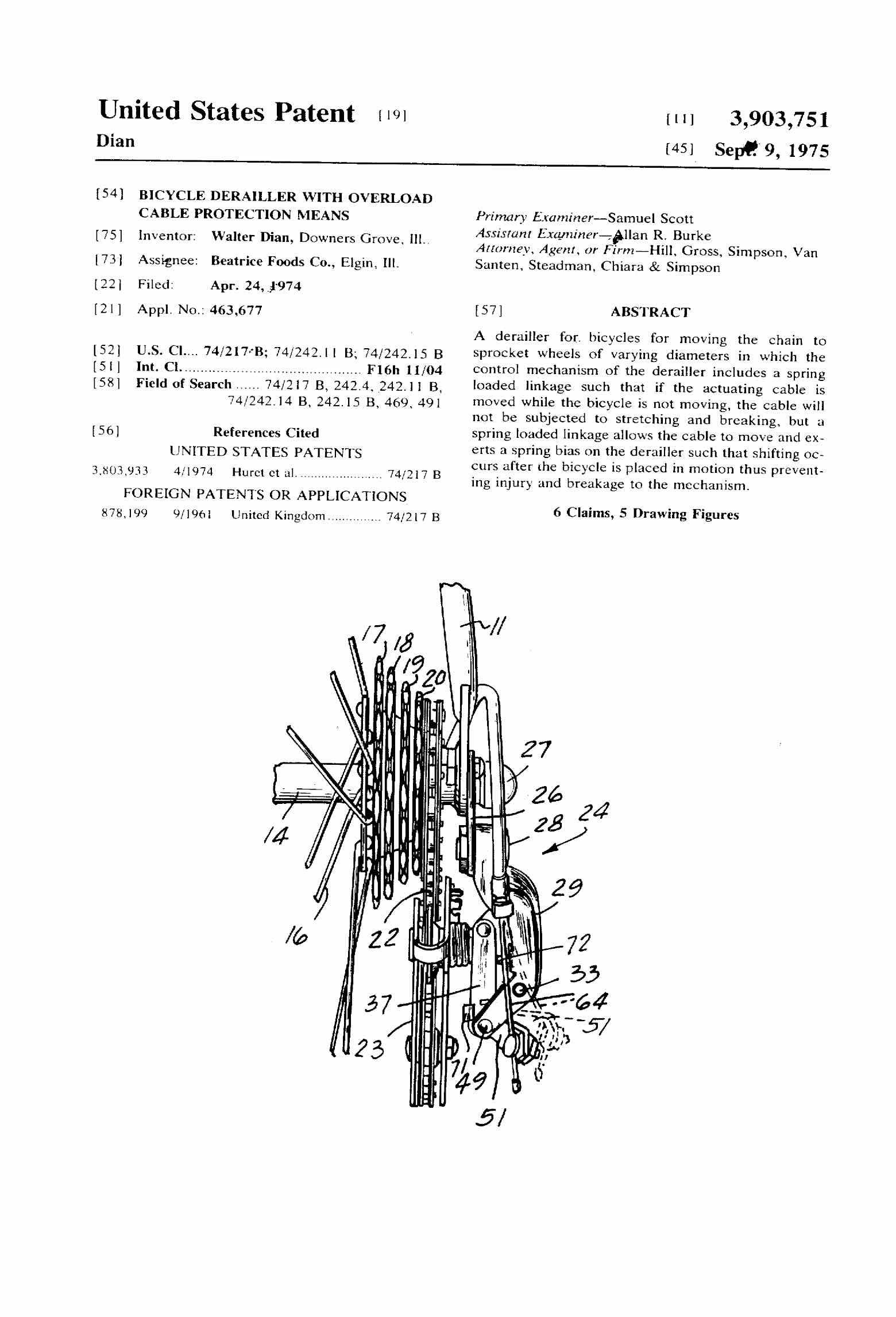 US Patent 3,903,751 - Excel Dynamic scan 1